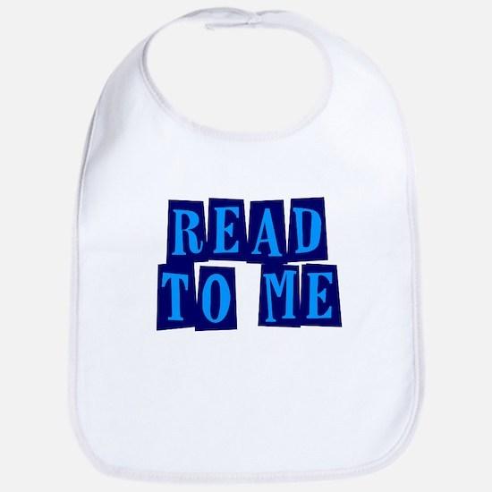 Navy & Blue Read to Me Bib