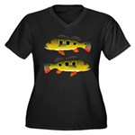 Butterfly Peacock Bass Plus Size T-Shirt