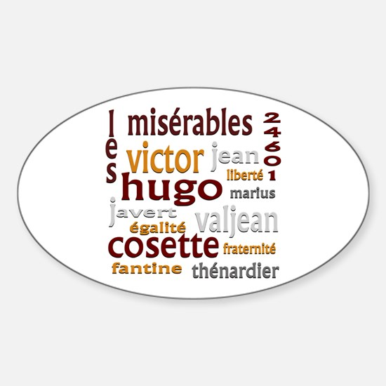 Les Miserables Sticker (Oval)