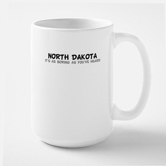 North Dakota-As Boring Large Mug