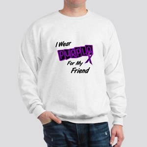 I Wear Purple For My Friend 8 Sweatshirt