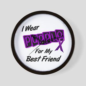 I Wear Purple For My Best Friend 8 Wall Clock