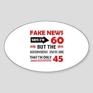 60th birthday designs Sticker