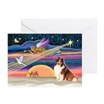 Xmas Star/Sheltie (#7) Greeting Cards (Pk of 10)