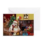 Santa's Sheltie (SW) Greeting Cards (Pk of 10)