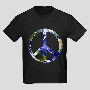 Peace on Earth Kids Dark T-Shirt