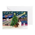 XmasMagic/Sheltie (7R) Greeting Card