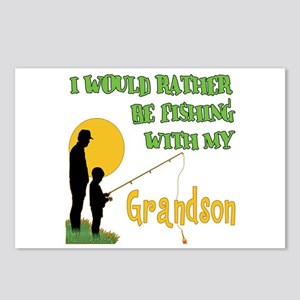 Fishing With Grandson Postcards (Package of 8)
