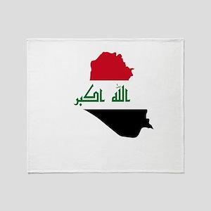 Iraq Map Throw Blanket