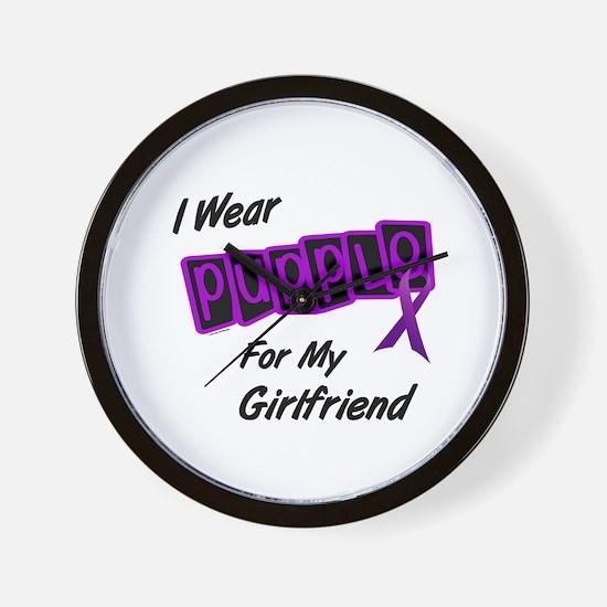 I Wear Purple For My Girlfriend 8 Wall Clock