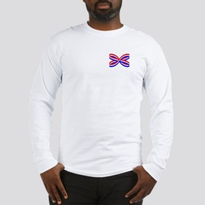 RED, WHITE, AND BLUE RIBBON Long Sleeve T-Shirt