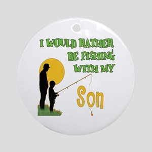 Fishing With Son Ornament (Round)