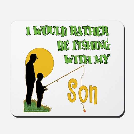 Fishing With Son Mousepad