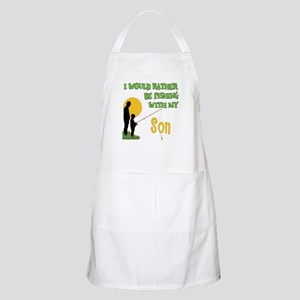 Fishing With Son BBQ Apron