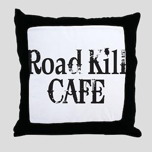 Road Kill Cafe Throw Pillow