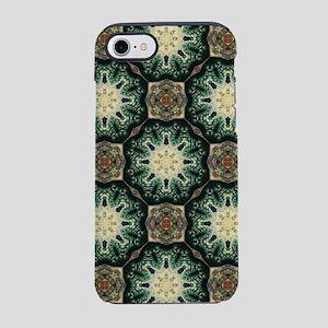 Abstract green bohemian patt iPhone 8/7 Tough Case