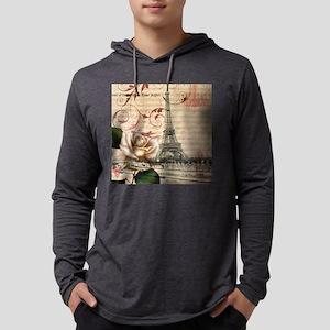 vintage eiffel tower paris Long Sleeve T-Shirt