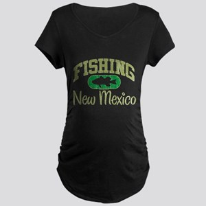 FISHING NEW MEXICO Maternity Dark T-Shirt