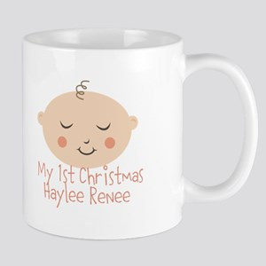 Personalize This 1st Christmas Mugs