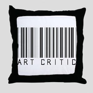 Art Critic Barcode Throw Pillow