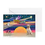 XmasStar/Yellow Lab (#7) Greeting Card