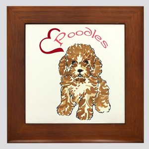Love Poodles Framed Tile