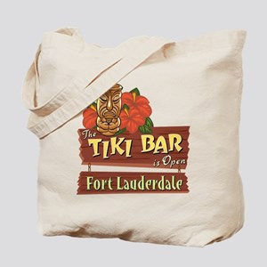 Ft. Lauderdale Tiki Bar - Tote or Beach Bag