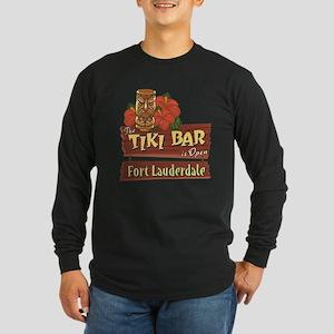 Ft. Lauderdale Tiki Bar - Long Sleeve Dark T-Shirt