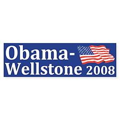 Obama-Wellstone bumper sticker