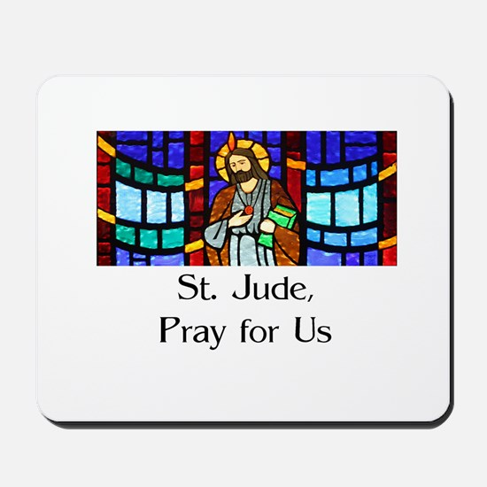 St. Jude Stained Glass Mousepad