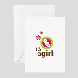 It's a Gir Shower Invite Greeting Cards (Pk of 20)
