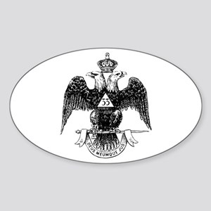 Scottish Rite 33 Oval Sticker