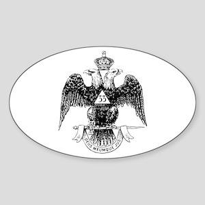 Scottish Rite 33 Oval Sticker