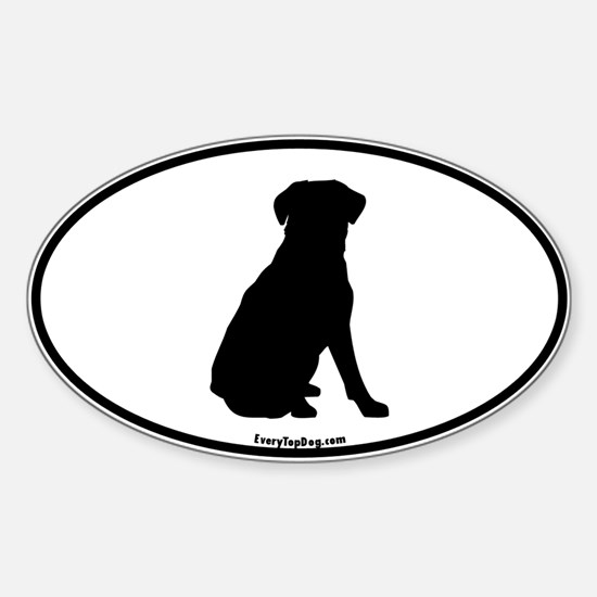 Lab Silhoutte Oval Decal