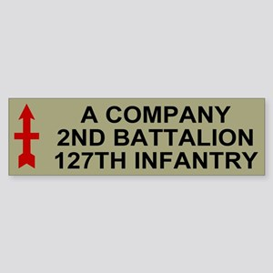 2-127th Infantry <BR>A Company Bumper Sticker 2