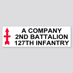 2-127th Infantry <BR>A Company Bumpersticker 1