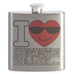 I Love Huntington Beach Flask