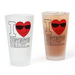 I Love Huntington Beach Drinking Glass