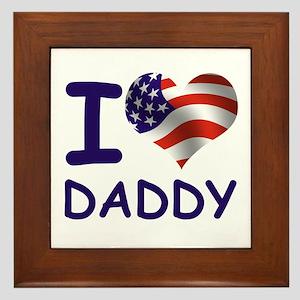 I LOVE DADDY (USA) Framed Tile