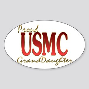 usmc granddaughter Oval Sticker