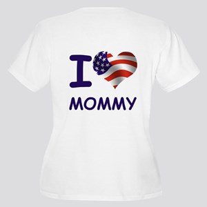 I LOVE MOMMY (USA) Women's Plus Size V-Neck T-Shir