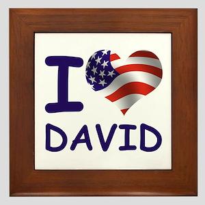 I LOVE DAVID (USA) Framed Tile