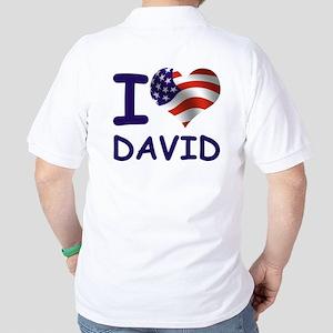 I LOVE DAVID (USA) Golf Shirt