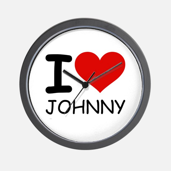 I LOVE JOHNNY Wall Clock