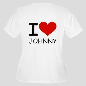 I LOVE JOHNNY Women's Plus Size V-Neck T-Shirt