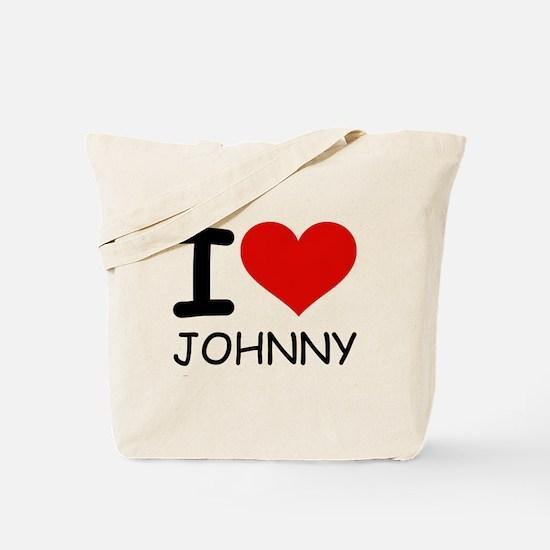 I LOVE JOHNNY Tote Bag