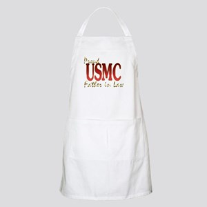 proud usmc father in law BBQ Apron