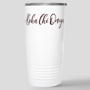 Alpha Chi Omega Prep Stainless Steel Travel Mug