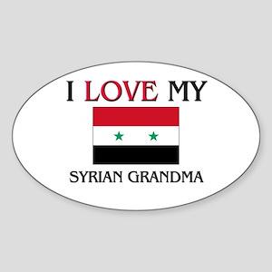 I Love My Syrian Grandma Oval Sticker