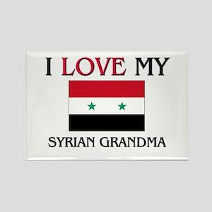 I Love My Syrian Grandma Rectangle Magnet